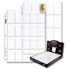 (100) BCW PRO 20-POCKET TOBACCO PAGE Binder Sheet - T206 Tobacco Cards