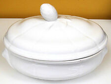 ROYAL WORCESTER ENGLISH FINE PORCELAIN WHITE OVAL TUREEN OVEN TO TABLE WEAR