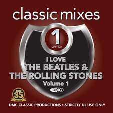 The Beatles & The Rolling Stones Continuous Megamixes 2 Trackers Mixes DMC DJ CD