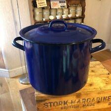 Vintage Large Dark Blue Round Enamel Bread / Storage Bin – Kitchenalia! –