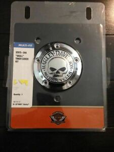 HARLEY OEM WILLIE G skull points timer cover softail dyna touring electra glide