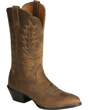 Heritage Western Boots Ariat Medium Toe,in Brown, size 7M with Free Shipping