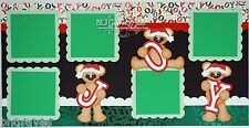 CraftEcafe Premade Scrapbook Pages Paper Piecing Christmas Bears  BLJgraves 48