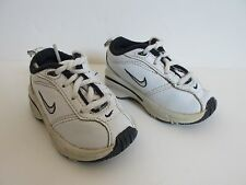 NikeToddlers Boys White Blue Lace Up Leather Shoes Size Us 3C