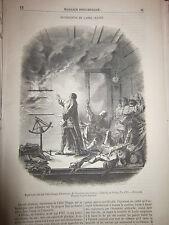 Expériences de l'Abbé Chappe d'Auteroche 1855 Gravure Article de presse