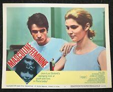 MASCULINE FEMININE Jean Luc Godard French New Wave 1966 Lobby Card Criterion 2