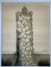 Richard Searle 1964 cat lithograph British artist
