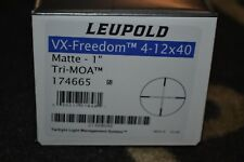 "Leupold VX-Freedom 4-12x40mm Matte Black Tri-MOA Reticle 1"" Tube NIB 174665"