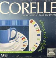 Corelle 16-Piece Dinnerware Set - Glass Durable Vitrelle - Memphis.