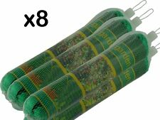 8 x NEW GARDEN NETTING - EACH 2m x 10m - FINE STRONG MESH - CAN BE CUT TO SIZE