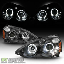 2002-2004 Acura RSX Integra DC5 Halo Projector LED Headlights Headlamps 02 03 04