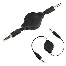 2PCS 3.5mm Male to Male Stereo Jack Audio Aux Auxiliary Cable Retractable Cord