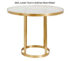ANA-Runder Esstisch-Design Bistrotisch rund in Gold dunkles Glas bei Matz-Möbel
