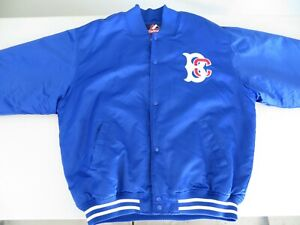 Vintage Majestic Brooklyn Cyclones Satin Like Sheen Embroidered Jacket - Size XL