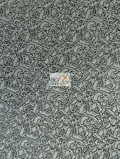 PUERTO RICO UPHOLSTERY VINYL FABRIC BY THE YARD EMBOSSED ACCESSORIES FLORAL