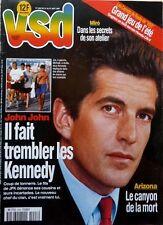 French mag VSD 1997: JOHN KENNEDY Jr_Painter MIRO_LAETITIA CASTA_JEAN ALESI