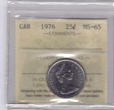 **1976** Canadian 25 Cents - ICCS MS-65 **NO SALES TAX**