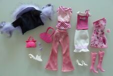 99/ LOT DE VETEMENTS POUPEE BARBIE DOLL MY SCENE MATTEL PANTALON SAC VESTE  TBE