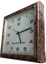 Square Wall Clock Vintage Marine Radio Acrylic