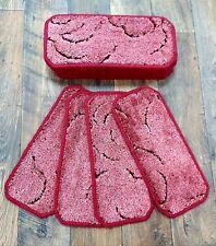 13 Carpet Stair Case Treads Pads # Burgandy#  20cm x 45cm