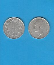 § Belgique Léopold II Silver Coin 1 Franc argent 1912 Légende Flamande