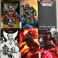 💥 DARK KNIGHTS DEATH METAL #1 (DC,2020,BATMAN) LOT OF 6 REGULAR COVERS SET💥