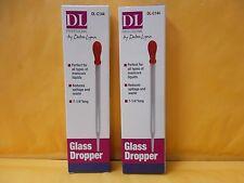 "2 Multi Purpose Glass Dropper 7-1/4 "" Long NEW IN BOX - FREE SHIPPING"