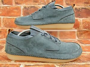 CLARKS NATURE CASUAL COMFORT SHOES SIZE UK 11 BLUE NUBUCK SUEDE / INNER SOCK