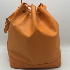 Louis Vuitton Orange Epi Petit Noe GM Bucket Bag