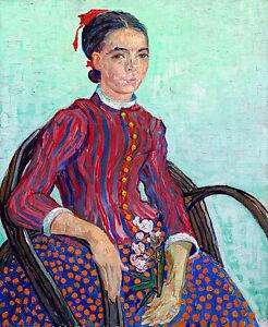 Vincent van Gogh - La Mousmé, 1888 Museum Art Poster, Canvas Print