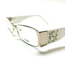 New Fendi Eyeglasses 923 Silver white 028 Authentic 50-18-135 w/case