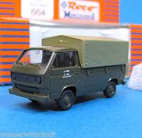 Roco Minitanks H0 664 VW T3 Pritsche Plane Oliv OVP US Army HO 1:87 Volkswagen
