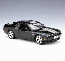 Welly 1:24  2012 Dodge Challenger SRT Diecast Model Car Toy Black