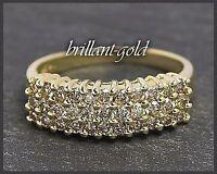 Diamant Damen Ring 585 Gold mit 1,15ct Brillant Besatz, Gelbgold Verlobungsring