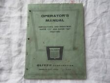 1957 Oliver 77 88 agricultural and industrial tractor operator's manual