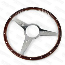 "Classic Dark Wood 15"" steering wheel compatible with Moto-Lita Boss"