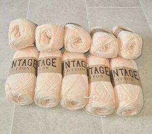 Vintage Cotton Yarn DK for Knitting / Crochet 10 x 100g - FREE DELIVERY- BIN161