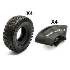 4 Chunky Tyres + 4 InnerTubes 3.00-4 3.50-4 Mini Moto Quads 300-4 350-4 Minimoto