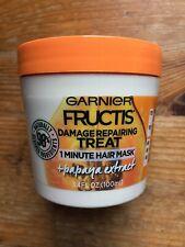 Garnier Fructis Damage Repairing Treat 1 Minute Hair Mask, 3.4 fl. oz. New
