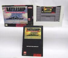 SNES SUPER BATTLE SHIP   Complete  Nintendo CIB