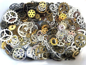 100g Pieces Lots Vintage Steampunk Wrist Watch Parts Gears Wheels Steam Punk Set