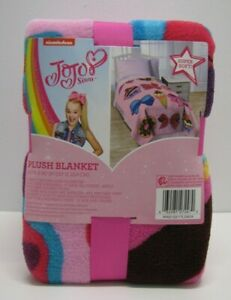 "Nickelodeon JoJo Siwa Follow Your Dreams Plush Twin Blanket 62"" x 90"" New"