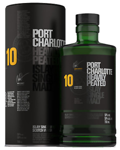 Bruichladdich Port Charlotte 10 Year Old Soctch Whisky 700mL Islay bottle