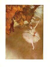 """1977 Vintage IMPRESSIONISM """"L'ETOILE"""" BALLET by EDGAR DEGAS COLOR Art Lithograph"""
