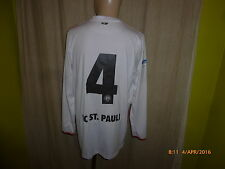 "FC St.Pauli Original Langarm Junior Matchworn Trikot 13/14 ""HELIOS"" + Nr.4 Gr.M"