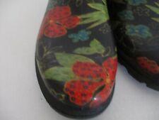 Sloggers Floral Garden Rain Ankle Boots Size US9 39EU Gently Worn Waterproof