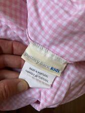 Pottery Barn Kids Pink Gingham Full Size Sheet Set