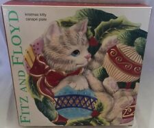 Fitz And Floyd Christmas Kitty Canapé Plate Christmas Cat Decor Can Be Hung
