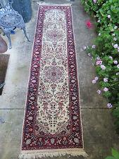 9.9X2.6 PERSIAN style ISFEHAN/TABRIZ  genuine Hand Made rug nice colors$750