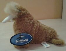 "Authentic Seaworld Brown Walrus Plush 7"" stuffed animal toy boys girls Nwt"